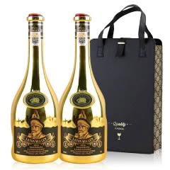 法国进口红酒14度百伦堡干红葡萄酒朗格多克产区750ml*2(红酒礼盒)