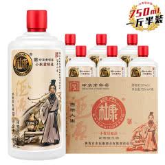 【一斤半装】50°白水杜康酒750mL*6瓶整箱白瓷瓶装浓香型白酒大容量
