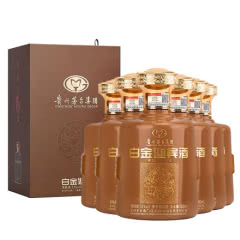 53°贵州茅台集团白金迎宾酒(黄坛) 酱香型白酒整箱500ml*6瓶