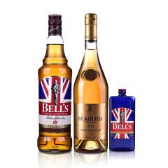 40°法圣古堡公爵XO白兰地700ml+40°英国金铃喜乐苏格兰威士忌700ml+200ml