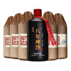 53°煮仙 八年坤沙老酒 酱香型白酒 贵州茅台镇 纯粮食固态酒 白酒整箱500ml*6瓶