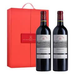 法国2017传奇源自拉菲罗斯柴尔德波尔多红葡萄酒750ml*2(高端双支礼盒)