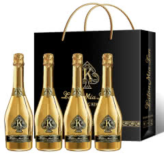 3.8%vol正品女士起泡酒香槟酒甜型草莓味果酒送礼KTV用酒 礼盒装 750ml*4