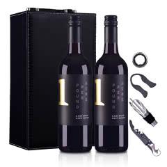 澳大利亚沙普酒庄1号赤霞珠干红葡萄酒750ml*2(双支皮盒套装)