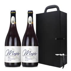 法国原酒进口13°老藤干红葡萄酒AOP级750ml*2皮盒装