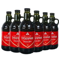 俄罗斯进口啤酒精酿啤酒三山一只耳黄啤酒 大麦啤酒淡色啤酒450ml(6瓶)