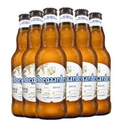 比利时风味啤酒Hoegaarden福佳小麦白啤酒330ml(6瓶装)