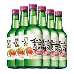 13.5度韩国原瓶进口好天好饮蜜桃味360ml(6瓶)