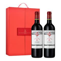 法国传奇源自拉菲罗斯柴尔德经典玫瑰红葡萄酒750ml*2+拉菲高端定制双支礼盒