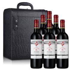 法国传奇源自拉菲罗斯柴尔德经典玫瑰红葡萄酒750ml*6(鳄鱼纹六支装皮盒)