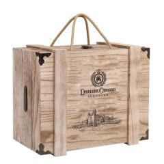 红酒木盒六支装红酒盒木质葡萄酒盒6只红酒木箱木盒