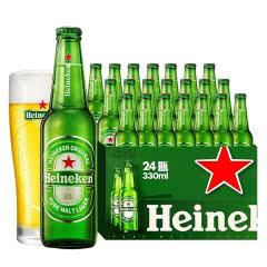 喜力Heineken啤酒整箱330mLx12瓶11.4度拉格啤酒(半箱)雪花啤酒出品