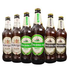 俄罗斯啤酒进口啤酒未过滤浑浊型生啤瓦尔娜小麦白啤原浆鲜啤酒450ml(6瓶组合)