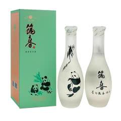 筑春熊猫酒53度500ml酱香型手工盒磨砂瓶白酒 500ml