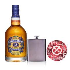 40°英国芝华士18年苏格兰威士忌500ml+芝华士酒壶(扁型)+ 芝华士品鉴杯垫
