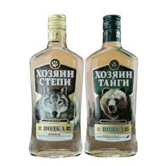 40°俄罗斯进口伏特加洋酒王者狼+王者熊500m(2瓶)
