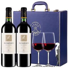 拉菲 法国原瓶进口红酒 罗斯柴尔德 奥西耶白鹭干红葡萄酒 双支礼盒装750ml*2