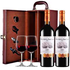 张裕先锋乐高贵族城堡庄主珍藏干红葡萄酒法国原瓶进口两支礼盒装750ml*2瓶