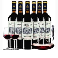 法国进口红酒拉图尼2019精选干红葡萄酒750ml*6瓶整箱醒酒器装