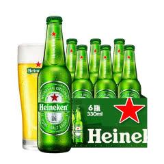 喜力Heineken啤酒整箱330mLx6瓶11.4度拉格啤酒雪花啤酒出品