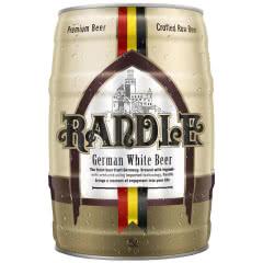 4.8%vol 兰德尔原浆啤酒精酿桶装生啤扎啤黄啤鲜啤大桶装德国风味罐装 5L 黑白随机发