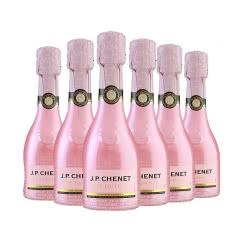 法国原瓶进口红酒 香奈(J.P.CHENET)冰爽半干型桃红起泡葡萄酒200ml*6